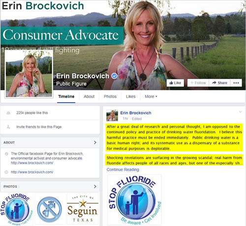 Erin Brockovich - Fluoride in Drinking water