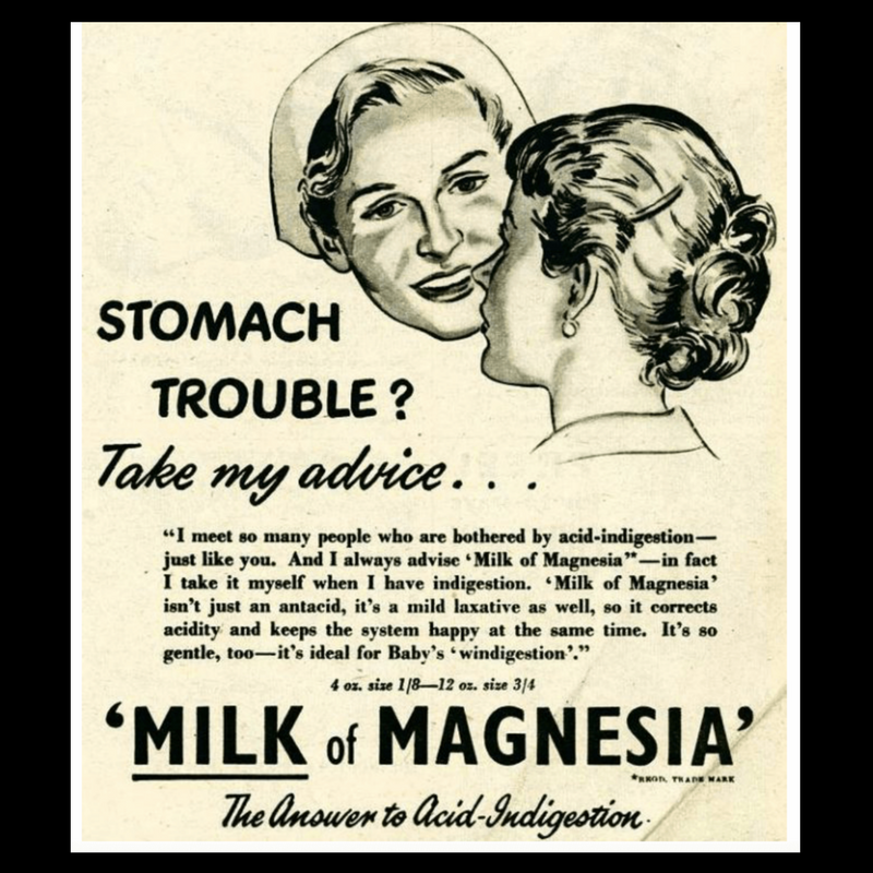 Milk of Magnesia Old Advertisement
