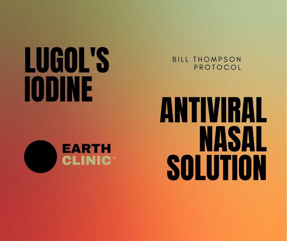 Lugol's Iodine Nasal Rinse for Covid-19