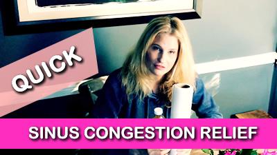 Relieve Sinus Congestion in 10 Seconds