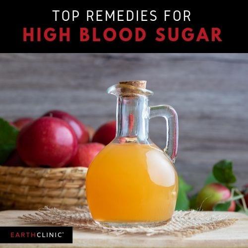 Top natural remedy for high blood sugar, apple cider vinegar.