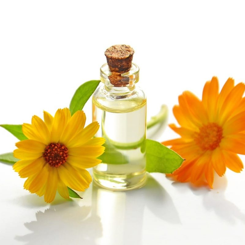 Calendula oil for dermatitis and other skin conditions.