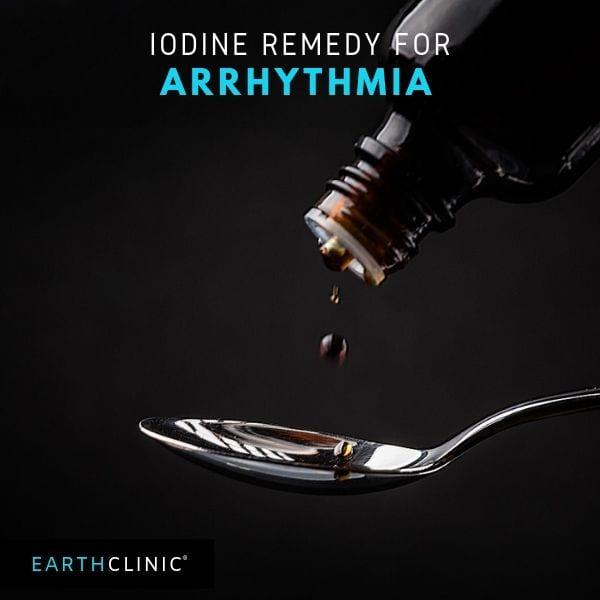Iodine remedy for arrhythmia.